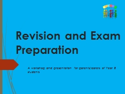 Revision and Exam