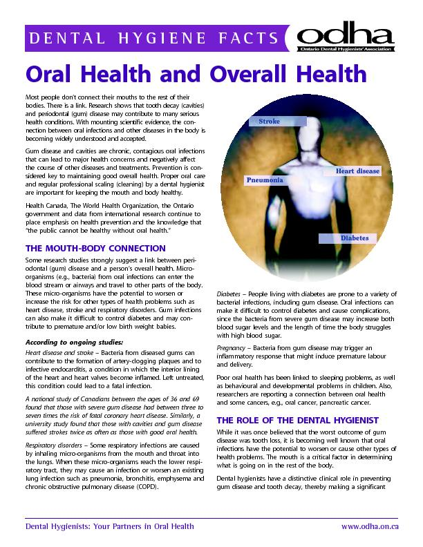 Dental Hygienists: Your Partners in Oral Healthwww.odha.on.ca