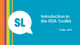 Introduction to the RDA Toolkit