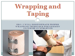 Obj : I will demonstrate proper wrapping technique for comm PowerPoint PPT Presentation