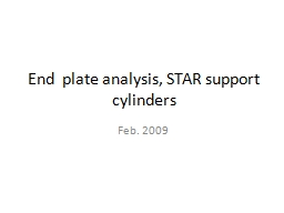 End  plate analysis, STAR support cylinders