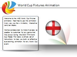 World Cup Fixtures Animation