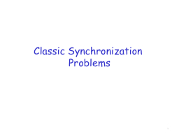 Classic Synchronization Problems PowerPoint PPT Presentation