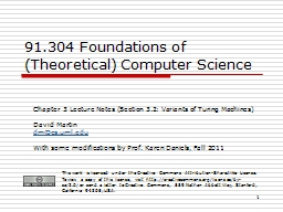 1 91.304 Foundations of (Theoretical) Computer Science