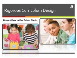 Rigorous Curriculum Design PowerPoint PPT Presentation