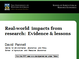Real-world impacts from research: