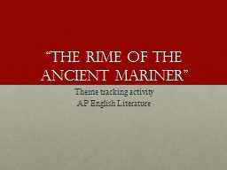 """""""The Rime of the Ancient Mariner"""""""
