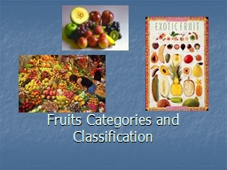 Fruits Categories and Classification