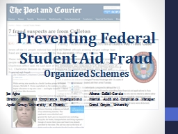 Preventing Federal Student Aid Fraud