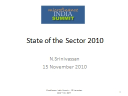 State of the Sector 2010