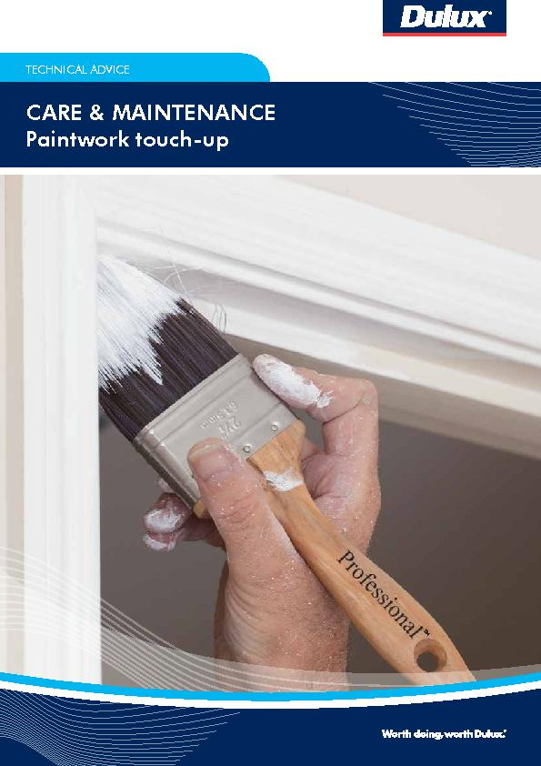 TECHNICAL ADVICEPaintwork touch-up PDF document - DocSlides