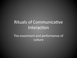 Rituals of Communicative Interaction