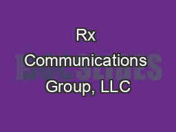 Rx Communications Group, LLC