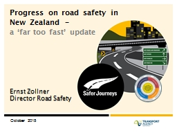 Progress on road safety in New Zealand