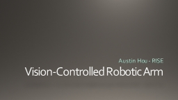 Vision-Controlled Robotic Arm