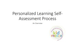 Personalized Learning Self-Assessment Process