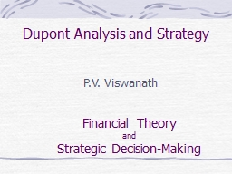 Dupont Analysis and Strategy