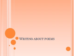 Writing about poems