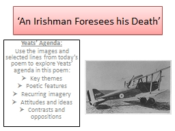 'An Irishman Foresees his Death'
