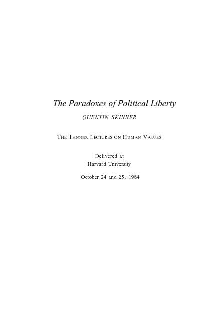 The Paradoxes of Political Liberty PowerPoint PPT Presentation