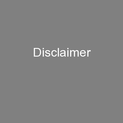 Disclaimer PowerPoint PPT Presentation