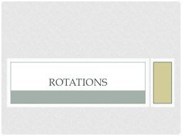 Rotations PowerPoint PPT Presentation