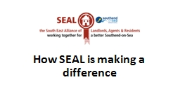 How SEAL is making a difference PowerPoint PPT Presentation