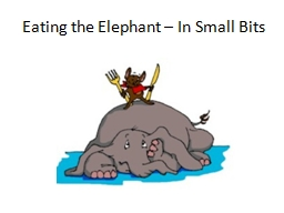 Eating the Elephant – In Small Bits