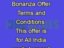 Parle Kreams  Kreams Gold Bonanza Offer Terms and Conditions  This offer is for All India market except Tamil Nadu PowerPoint PPT Presentation
