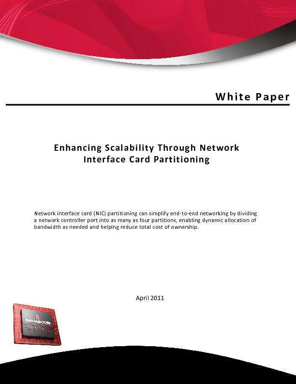 Enhancing Scalability Through Network Interface Card Partitioning ...