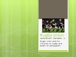 Rugby Union PowerPoint PPT Presentation