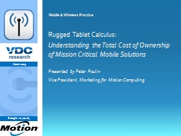 Rugged Tablet Calculus: