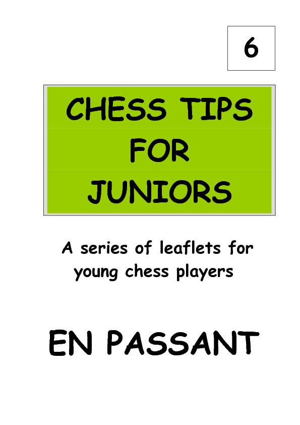 A series of leaflets for young chess players