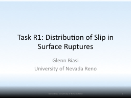 Task R1: Distribution