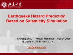 Earthquake PowerPoint Presentation, PPT - DocSlides