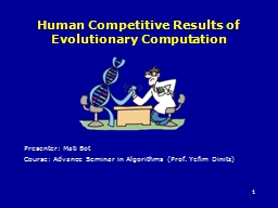 Human Competitive Results of Evolutionary Computation
