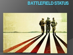 Battlefield Status PowerPoint PPT Presentation