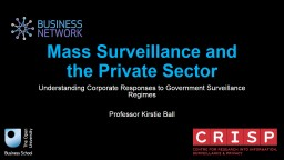 Mass Surveillance and the Private Sector