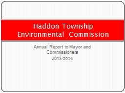 Annual Report to Mayor and Commissioners