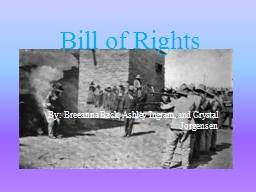Bill of Rights PowerPoint PPT Presentation