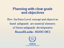 Planning with clear goals