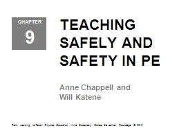 TEACHING SAFELY AND SAFETY IN PE
