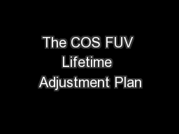 The COS FUV Lifetime Adjustment Plan