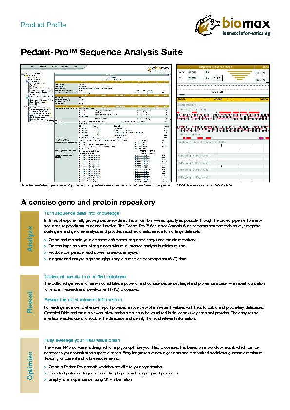 A concise gene and protein repositoryPedant-Pro™ Sequence Analysi PowerPoint PPT Presentation