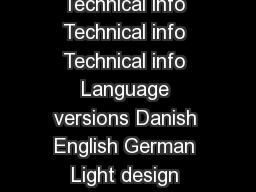 Botch Botch Botch Botch  up upup up Technical info Technical info Technical info Technical info Language versions Danish English German Light design Morten Ladefoged Age group  ear olds  and anone el PowerPoint PPT Presentation