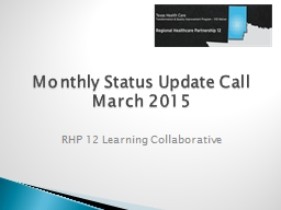 Monthly Status Update Call PowerPoint PPT Presentation