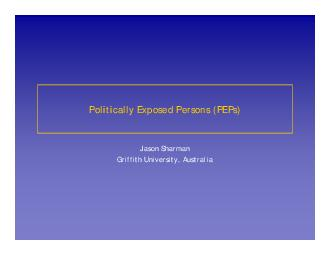 what is a politically exposed person pdf