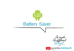 Battery Saver PowerPoint PPT Presentation