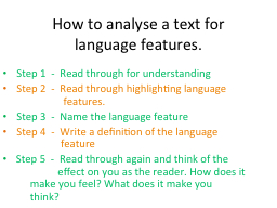 How to analyse a text for
