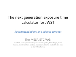 The next generation exposure time calculator for